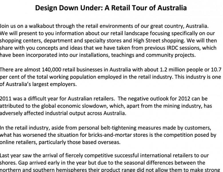 Design Down Under